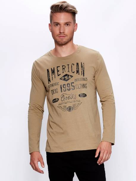 Men's Knitted Long Sleeve T-Shirt
