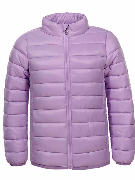 Girls' Thin Stand-Collar Coat