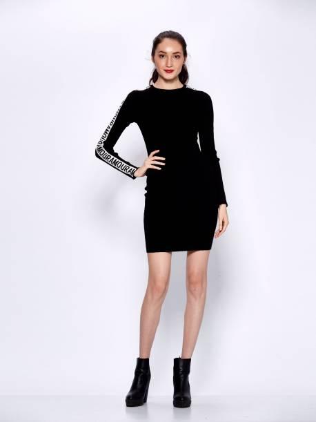 Women's Knitted Long Sleeve Dress