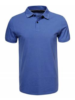 Men's Knitted Short Sleeve Polo Shirt