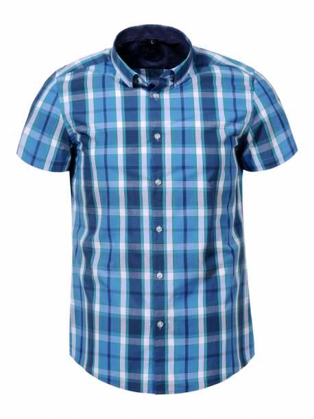 Plus size Men's Woven Short Sleeve Shirt