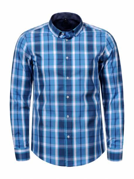 Plus size Men's Woven Long Sleeve Shirt