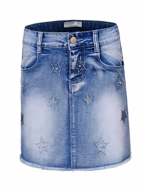Girls' Woven Denim Skirt