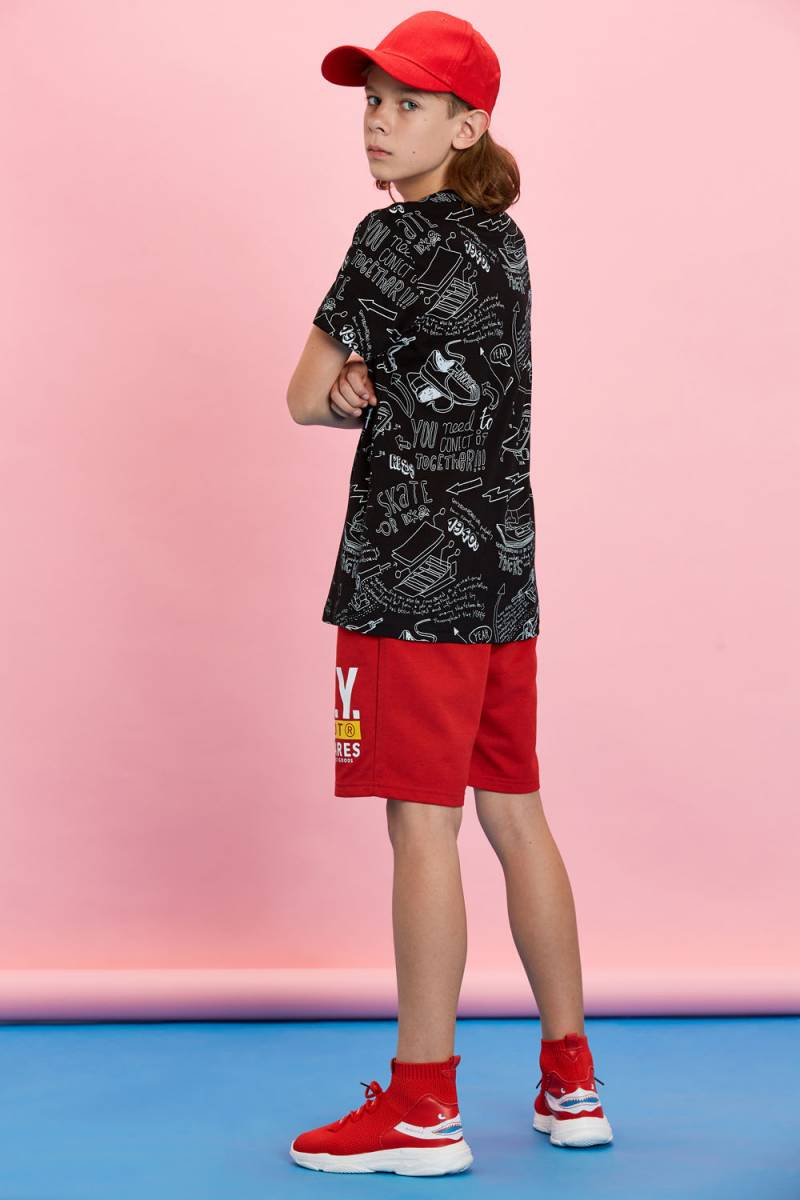 Boys' Knitted Short Sleeve T-Shirt