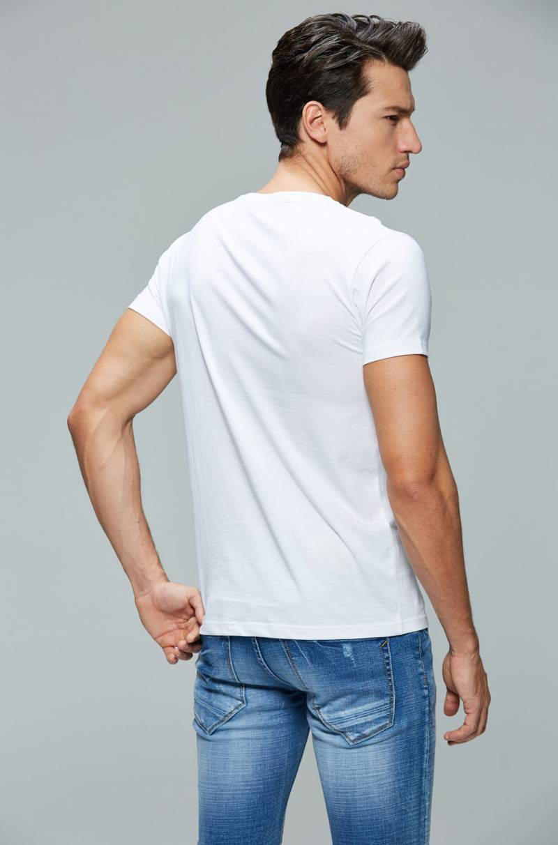 Men's Knitted Short Sleeve T-Shirt