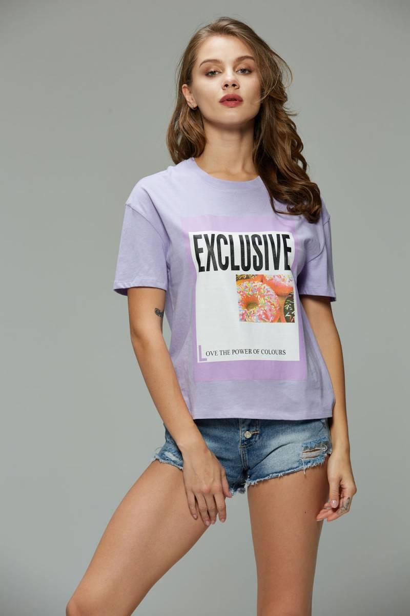 Women's Knitted Short Sleeve T-Shirt