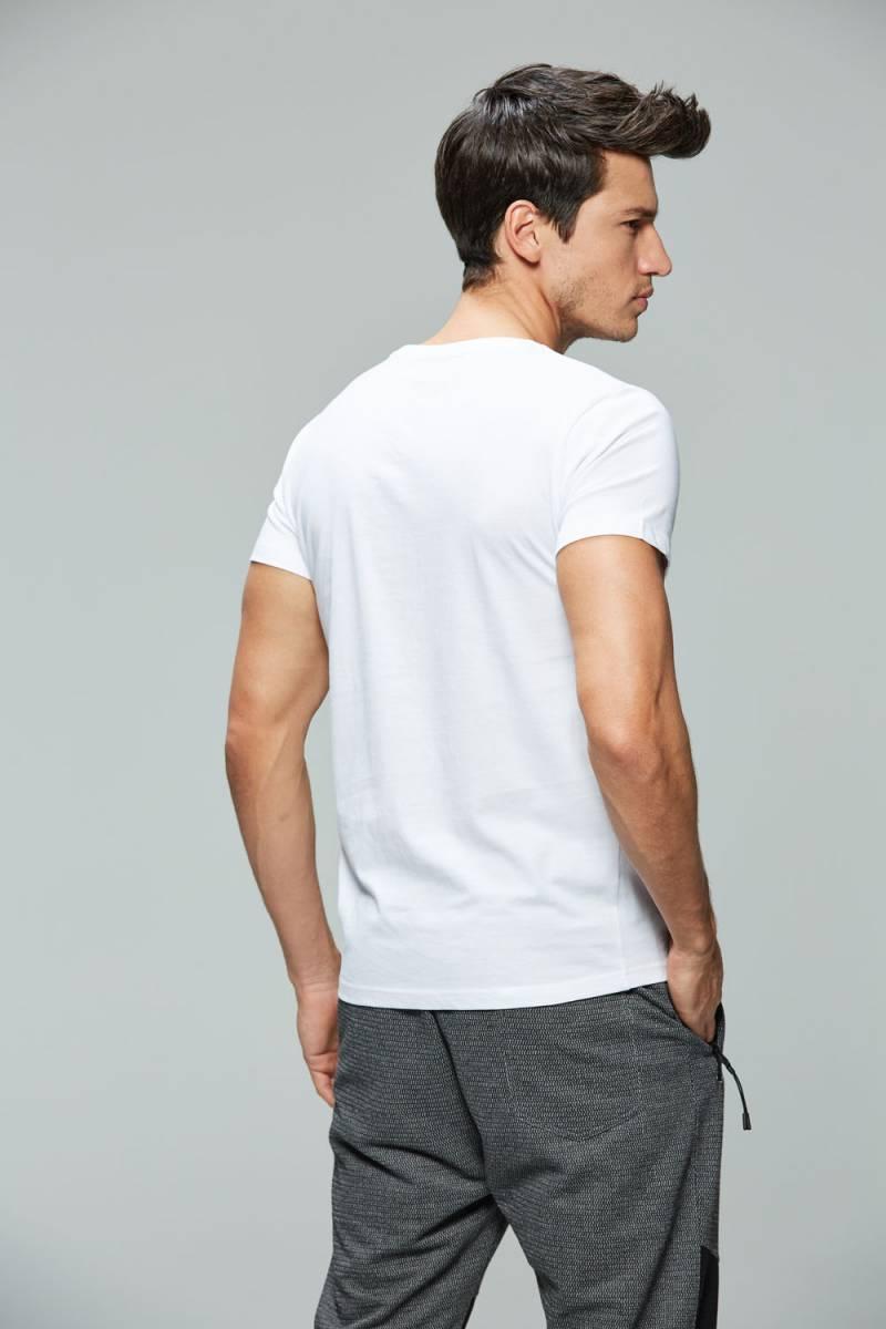 Men's Knitted Short Sleeve T-Shirt
