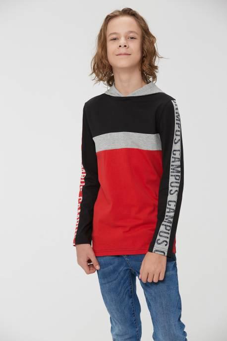 Boys' Knitted Long Sleeve T-shirt