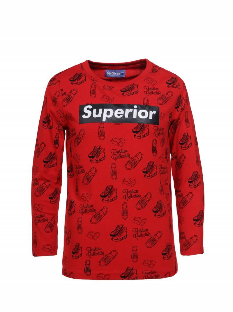Boy's knitted long-sleeve T-shirt