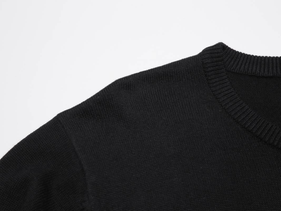 Men's knit sweater-Black