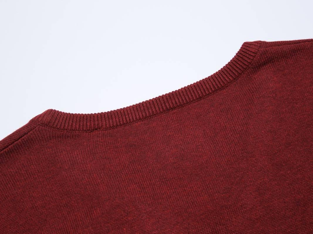 Men's knit sweater-Burgundy
