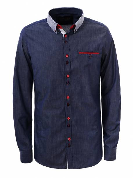 Men's woven long sleeve shirt
