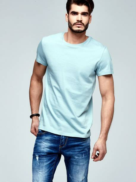 Men's short sleeve basic T-shirt